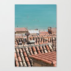 Swimming roofs Canvas Print