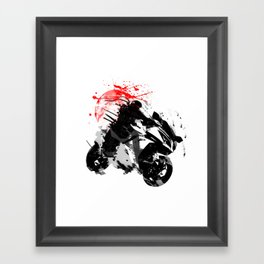 Ninja Motorcycle Framed Art Print