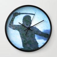 samurai Wall Clocks featuring Samurai by Deprofundis