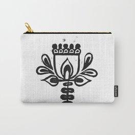 Folk Art Flower Carry-All Pouch