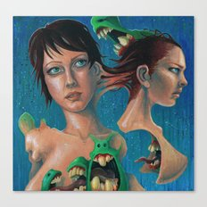 Women and Monsters Canvas Print