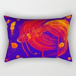 Vibran Red Splatter Betta Rectangular Pillow