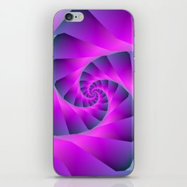 Pink and Blue Spiral iPhone Skin