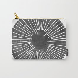 Black and White Circle Carry-All Pouch