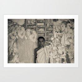 Young Monk Art Print