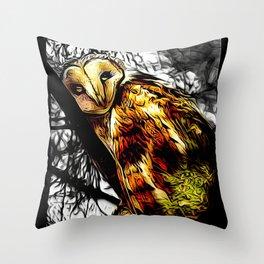 Bird Models: Slothful Owl Throw Pillow