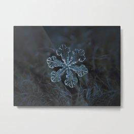 Vega (real snowflake macro photo) Metal Print