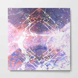 Abstract Ripple Reflection Metal Print