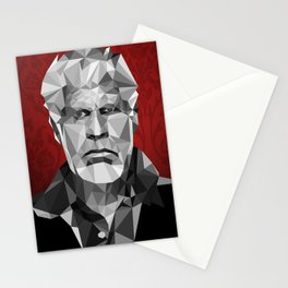 Ron Perlman low poly Stationery Cards