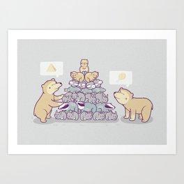 Bearamid Art Print
