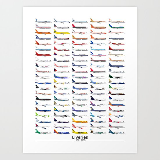 Liveries (by date) Art Print