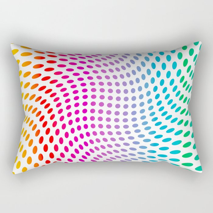 Approaching and receding shapes in CMYK - Optical game 17 Rectangular Pillow