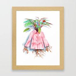 Inside Her Something Grows Framed Art Print