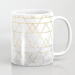Gold Geometric Marble Deco Design Coffee Mug