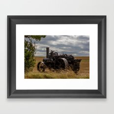 Steam Traction Engine Framed Art Print