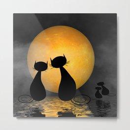 mooncats -2- Metal Print