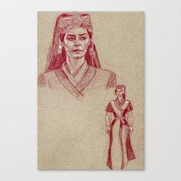 Turkish Tribe Maiden (Vintage) Canvas Print