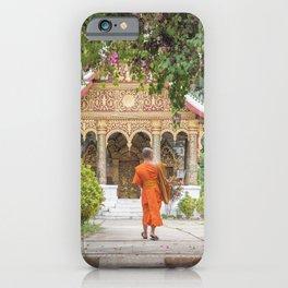 Luang Prabang Monk iPhone Case