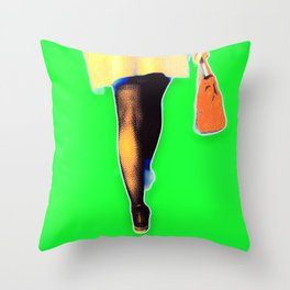 red bag Throw Pillow