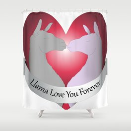 Llama Love You Forever in Color Shower Curtain