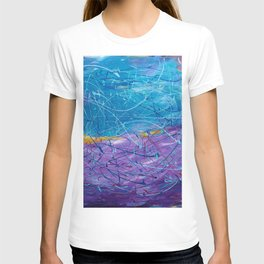 Purple/Blue Abstract T-shirt