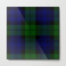 MY BLACK WATCH TARTAN Metal Print