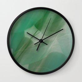 Fleur Blur Series-Abstract Eucalyptus Leaves Wall Clock
