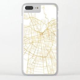 SANTIAGO DE CHILE CITY STREET MAP ART Clear iPhone Case