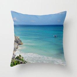 Tulum Turquoise Throw Pillow