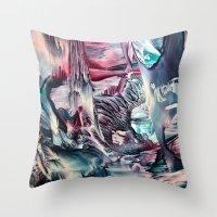 imagine Throw Pillows featuring Imagine  by ART de Luna