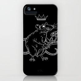 Rat King (white) iPhone Case