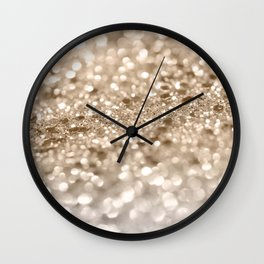 Gold Lady Glitter #2 #shiny #decor #art #society6 Wall Clock