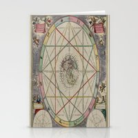andreas preis Stationery Cards featuring Andreas Cellarius by Public Domain