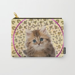 Sweet Kitty Cat Mandala Carry-All Pouch