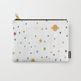 Polka space background Carry-All Pouch