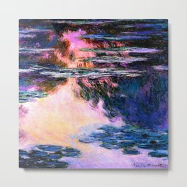 Monet : Water Lilies Metal Print