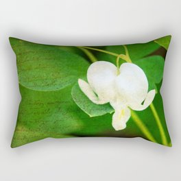 White Bleeding Heart Rectangular Pillow