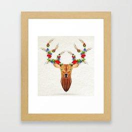 deer spring Framed Art Print