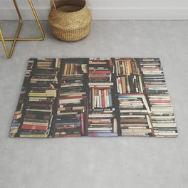 Bookshelf Books Library Bookworm Reading Pattern Rug