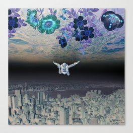 A Skydiver Between Two Parallel Universes Canvas Print