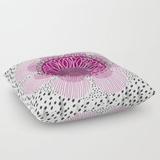 Pinky flower Floor Pillow