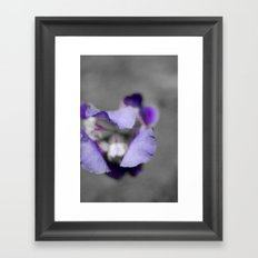 Purple and grey Framed Art Print