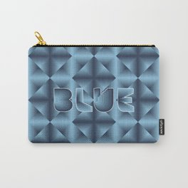 Blue diamond pattern on neon grid Carry-All Pouch