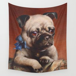 The Pug - Carl Reichert Wall Tapestry
