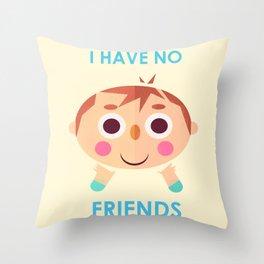 I intend to make friends! Throw Pillow