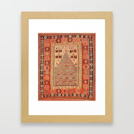 Antique Erzurum Turkish Kilim Rug Print Framed Art Print