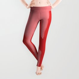 Red Acrylic Cacti on Pink Background Leggings
