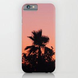 Palm Trees on Purple iPhone Case