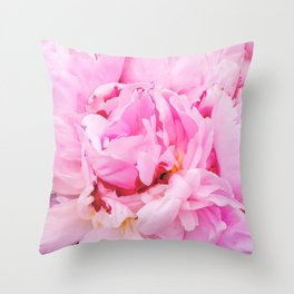 Pretty Pink Peony Throw Pillow