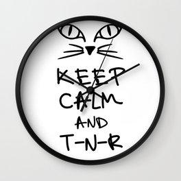 BX Feral Cat Care - Keep Calm and TNR Wall Clock